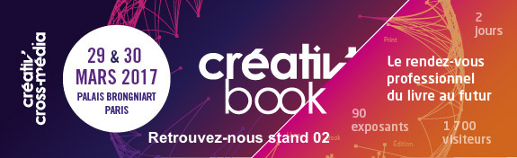 Publishroom sera au Salon Creativ' Cross-Média les 29 et 30 Mars 2017