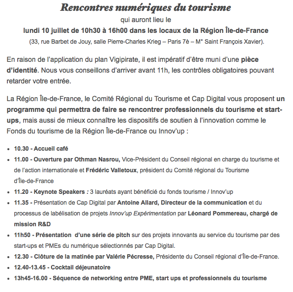 rencontres cap digital